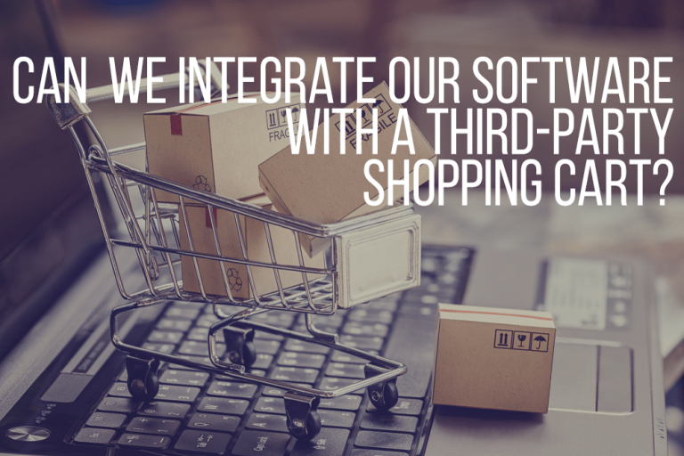 Can We Integrate A Shopping Cart with Our Software?