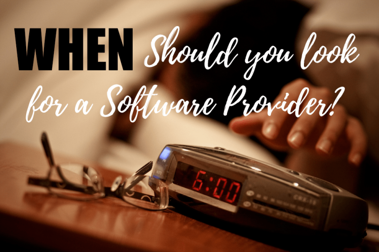 When Should You Look For a Software Provider?
